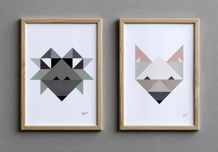 Fox & Hedgehog posters. Graphic design by Silke Bonde. Scandinavian design. www.silkebonde.dk