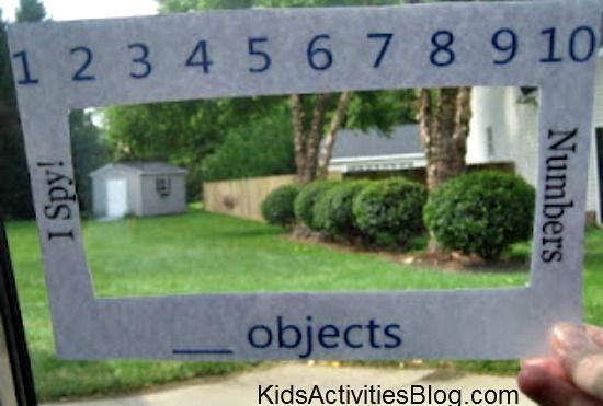 Travel Games for Kids: I Spy Learning Windows - Kids Activities Blog