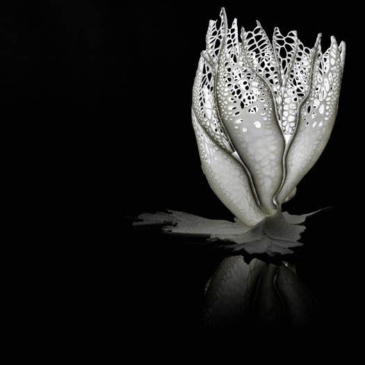 Purmundus Design-Tischlampe Light Venation: organisch bionische Gestaltung ähnlich einer Fächerkoralle