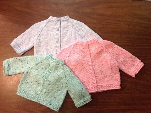 ▶ Star Stitch Raglan Baby Jacket by Stitch Niche - YouTube