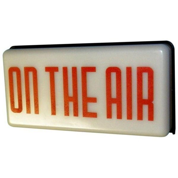 Vintage Radio Station On Air Sign 247 Liked On Polyvore Featuring Home Home Decor Wall Art Filler Signs Quote On Air Sign Wire Wall Art Word Wall Art
