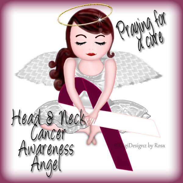 Head and Neck Cancer Awareness Angel