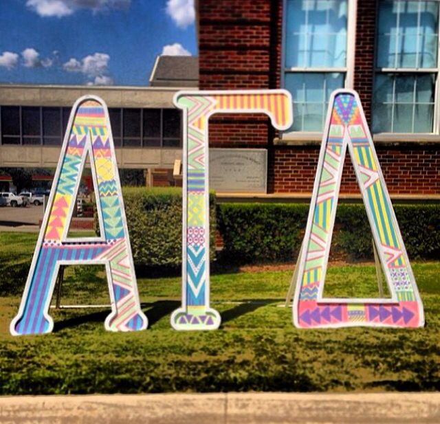 alpha gamma delta letters tribal print at twu alpha acosta gamma delta international