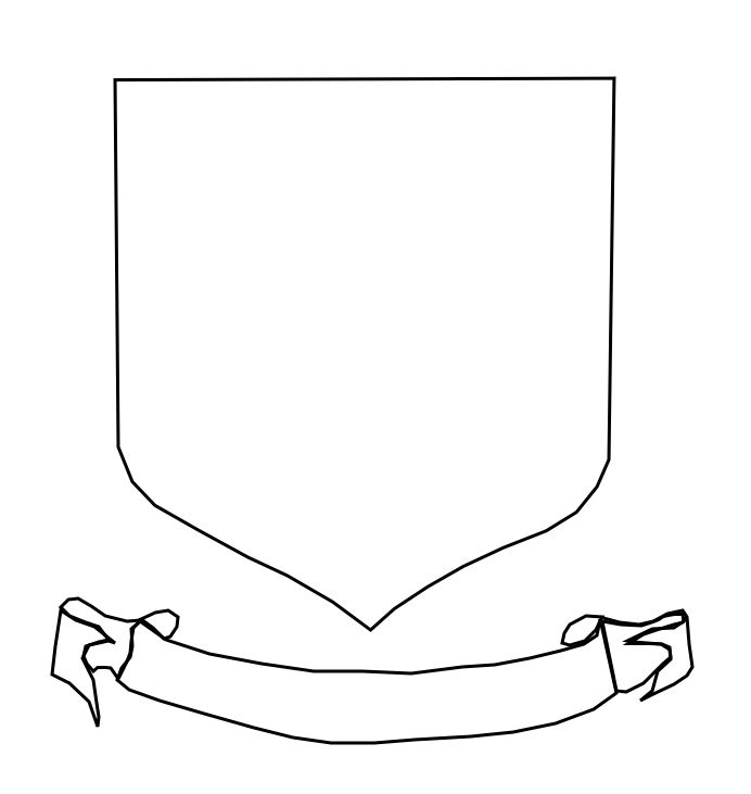 make your own coat of arms template - shield blank sca heraldry pinterest