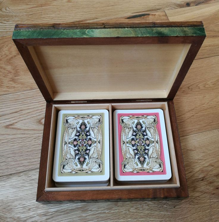 Vintage Waddingtons Shakespearean Playing Cards. Double Deck Waddingtons Playing Cards In Brass Wire Inlaid Ornate Wooden Playing Card Box by OnyxCollectables on Etsy
