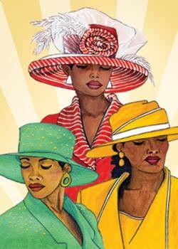 Free Clipart Black Women Wearing Hats African American...