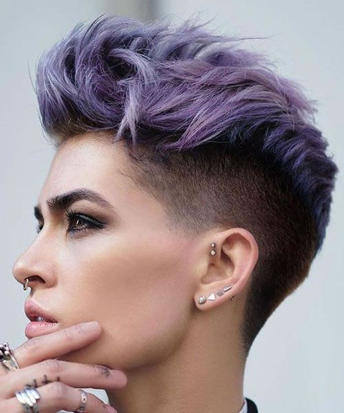 Undercut Fohawk Bold Short Haircuts For Women Hairstyles Bob Pixie Layered Buzz Cut Edgy