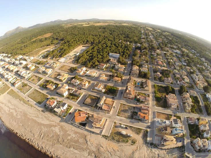 An aerial view of Son Serra de Marina