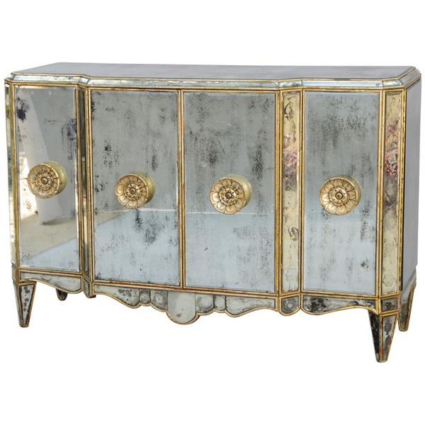 COM   James U0026 Jeffrey Antiques   Mirrored Credenza ❤ Liked On Polyvore