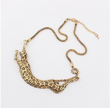 (Min order$10)Europe and the United States exaggerated metal new leopard Necklace!#95679 on AliExpress.com. $3.76
