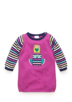 Nursery Rhyme  Striped Owl Sweater Dress