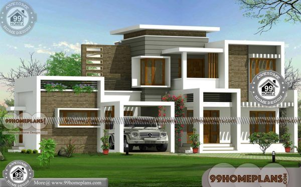 Flat Roof House Designs With 2 Floor Ultra Modern Latest Home Plan
