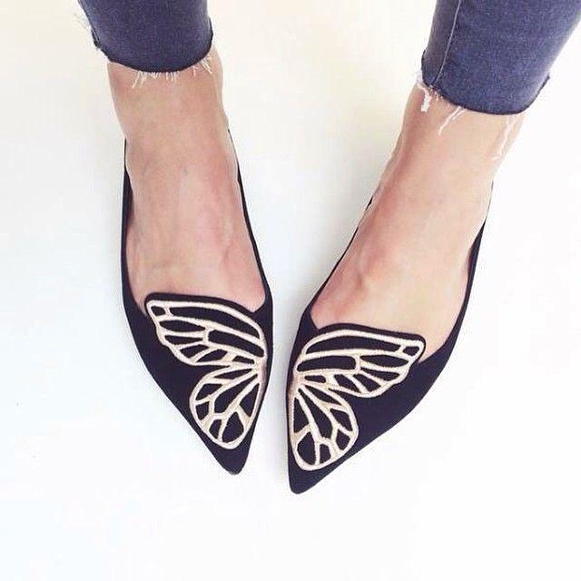 SOPHIA WEBSTER Bibi Butterfly Suede Ballet Flats ad3Y4vmcb