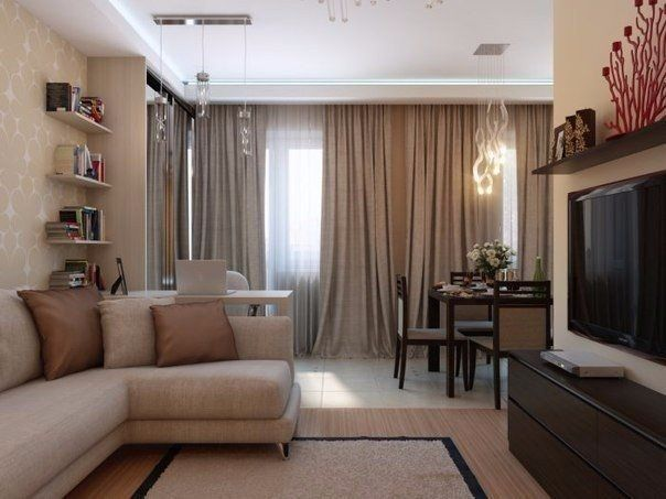 Отличное решение для однокомнатной квартиры - Дизайн интерьеров | Идеи вашего дома | Lodgers
