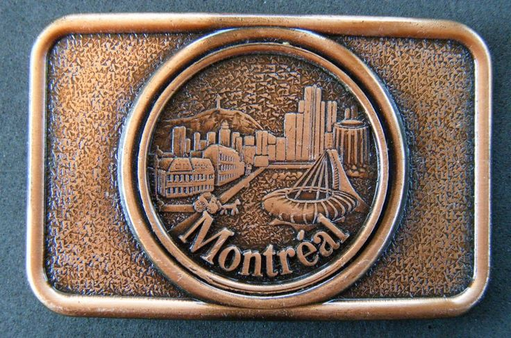 MONTREAL CITY SKYLINE QUEBEC CANADA OLYMPIC STADIUM DOWNTOWN BELT BUCKLE BUCKLES