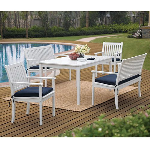 Superior Outdoor Dining Set, White: Patio Furniture U0026 Decor