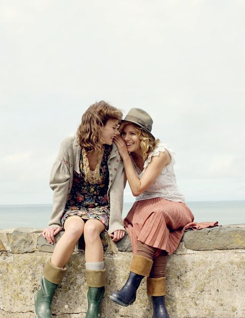 """#KeiraKnightley and #SiennaMiller in """"The Edge of Love"""""""