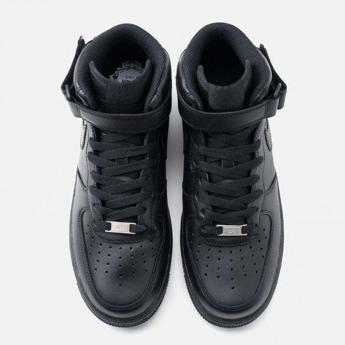 Кроссовки мужские Nike Air Force 1 Mid Black