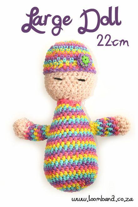 Big Baby Doll Loom band tutorial ,http://loomband.co.za/big-baby-doll-loom-band-tutorial/