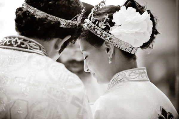 There is something especially beautiful about Orthodox weddings, isn't there? Not that I'm biased...