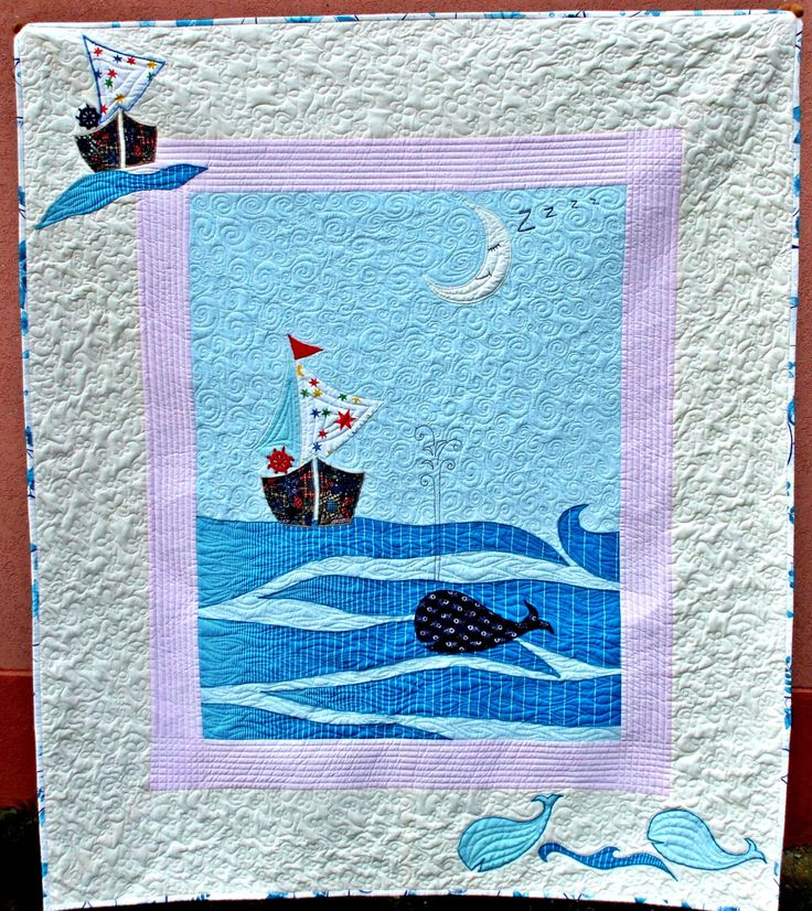 baby blanket sleeping whale place mat lap quilt crib quilt aqua nautical theme Christmas gift by lenaquilt on Etsy