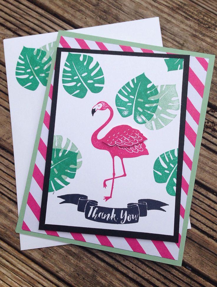 Открытка фламинго своими руками, днем