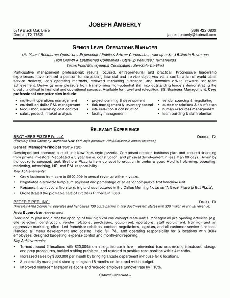 bar manager resume objective resume sles