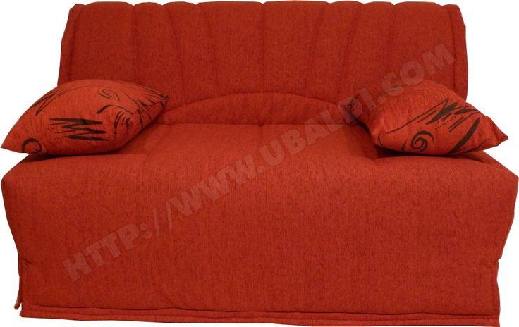 Canapé lit UB DESIGN Sofia 140cm rouge Pas Cher | UBALDI.com