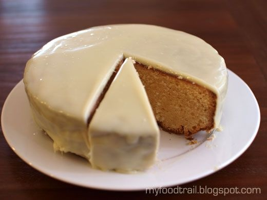 Lemon white chocolate mudcake with coconut white chocolate ganache