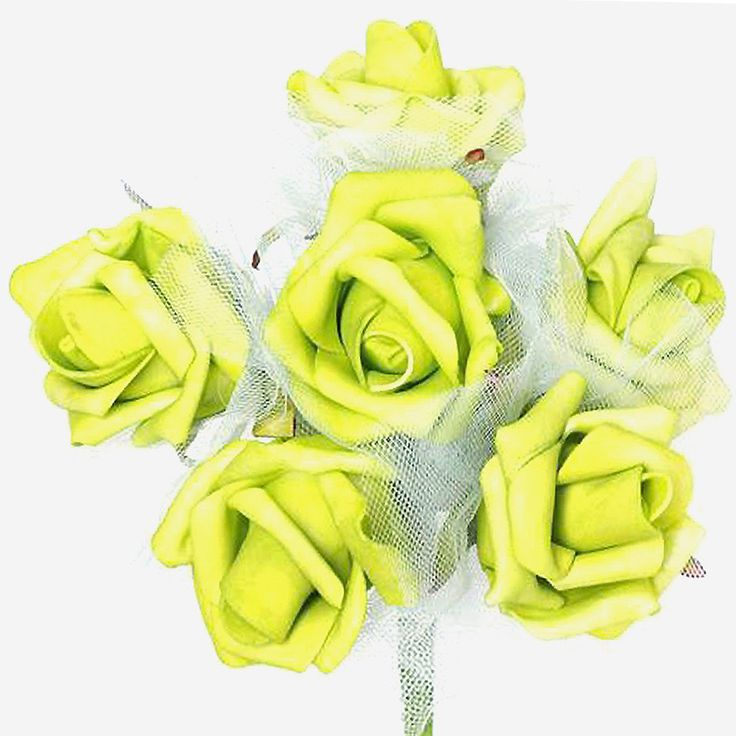 72 x SPECIAL EDITION Tres Beau Silk Roses - Lime |  Aptly named Tres Beau, a French word for Beautiful, our foam roses provide you much superior and refined version of artificial flowers. Made from high quality Styrofoam, these faux blooms will continue having a perfect shape, displaying perpetual bloom forever. Wired stem is swathed with green ribbon to give a realistic stem look. Bendable wired stem can easily be wrapped around baskets, boxes, or can be twisted into different crafts to…