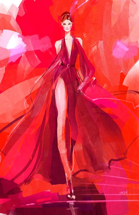 ieatcoffee: Experimenting tonight .Karlie Kloss in Donna Karan...