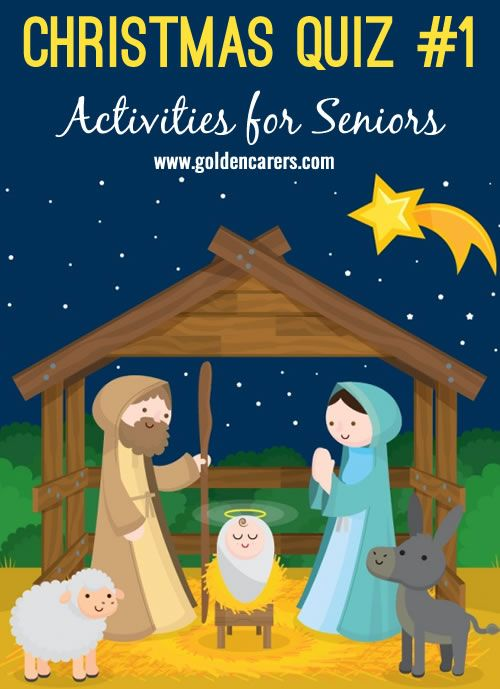 Here's a fun Christmas quiz for seniors in nursing homes and assisted living facilities.