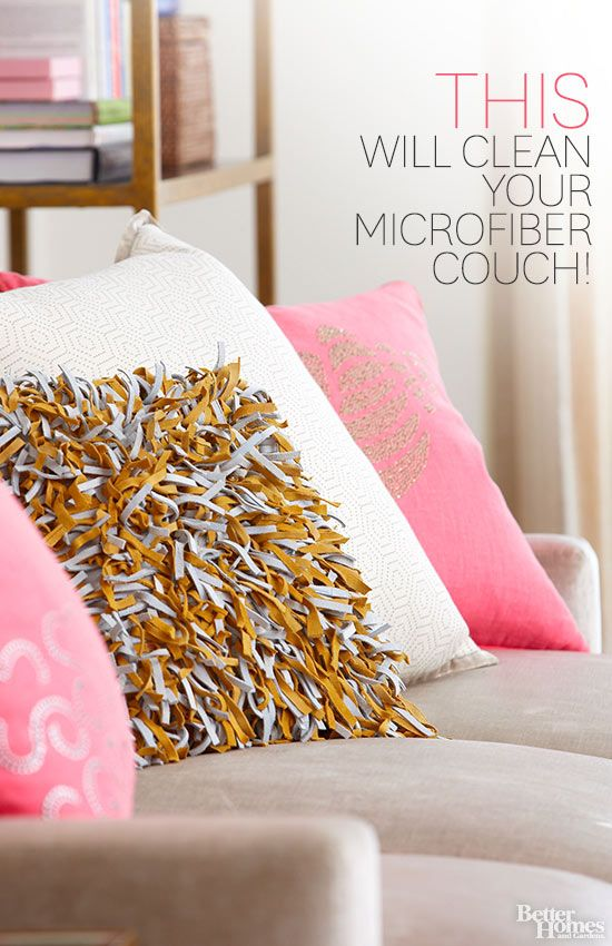 Learn how to clean a microfiber couch and keep it looking new for years.  One solution is sure to surprise you! /