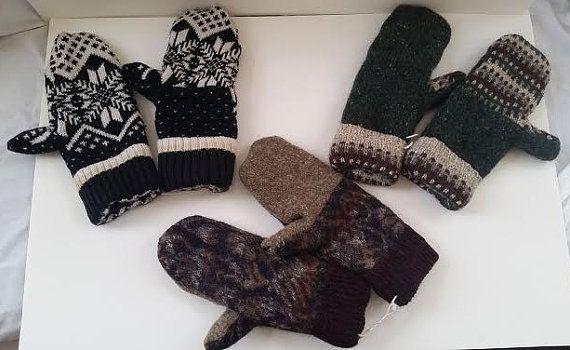 Wool Mittens by GmasOrganicOriginals on Etsy