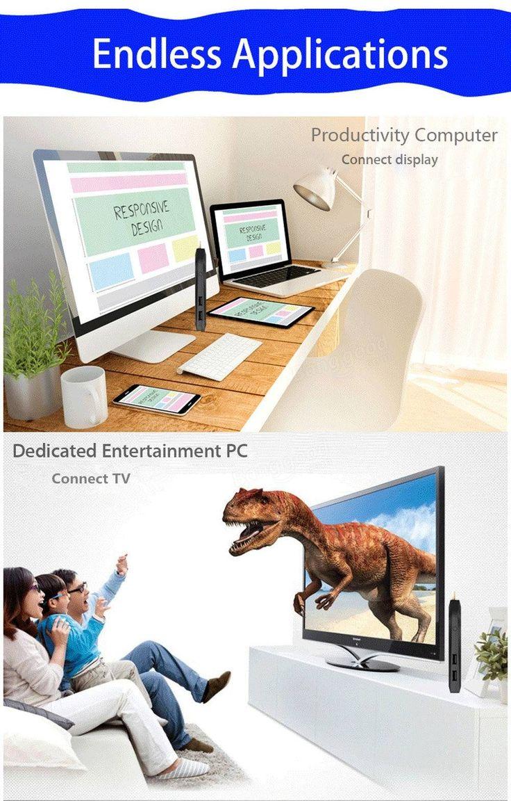 Meegopad T08 Intel Cherry Trail x5-Z8350 32bit Windows 10 4G/32G WiFi BT 4.0 with TF Card Slot / USB 3.1 Type-C Mini PC TV Stick