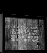 I just happen to like apples and i am not afraid of snakes -Ani DiFranco