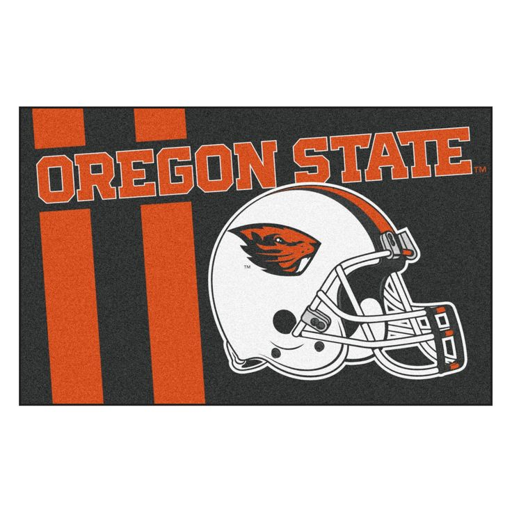 NCAA 19x30 Uniform Starter Rug Oregon State Beavers