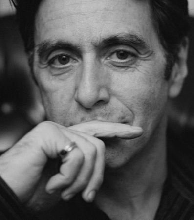 Al Pacino with a Mona Lisa smile mr pacino is the best no other like him !!!!!!!!!!!!!!!!