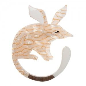 Erstwilder - Bambra Bilby (Cream Resin Brooch)