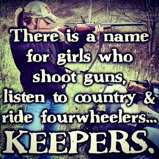 My husband thinks I look sexy when I shoot a gun. I think he thinks i'm a keeper.