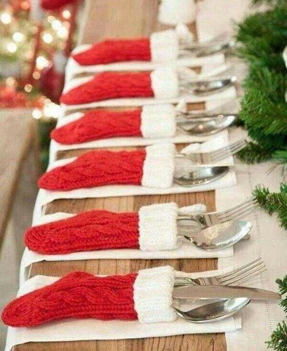 Cute idea for Christmas dinner party.