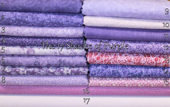 Purple Fabric Novelty Cotton Quilt Weight by EmbellishByAndrea, $6.95
