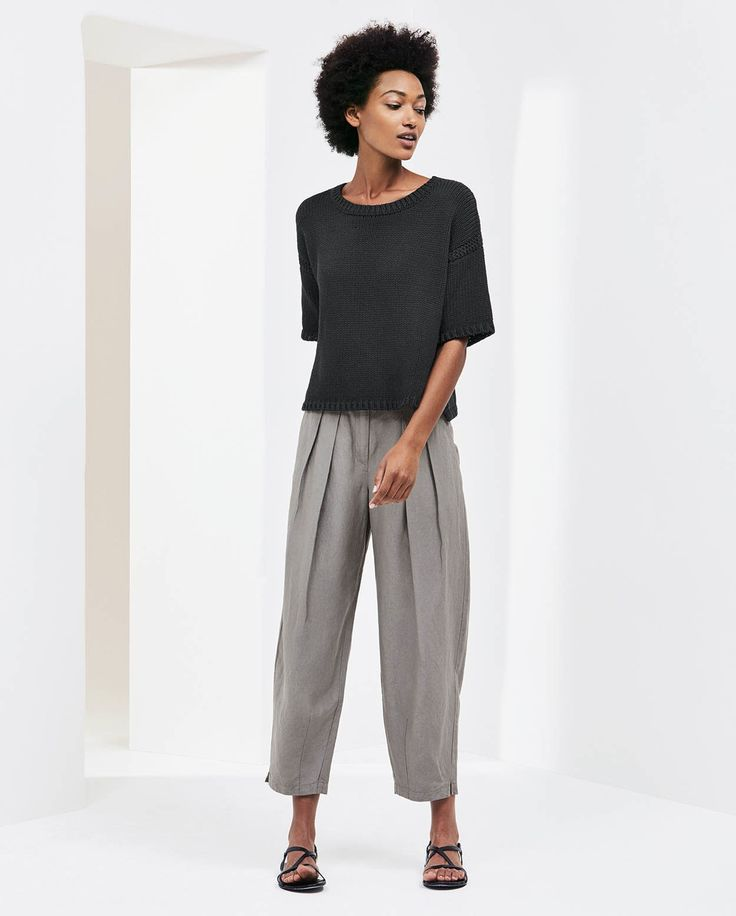 Poetry Fashion - Silk linen trousers