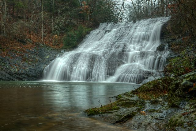 Cane Creek Falls A Center Of Attraction Inside United Methodist Camp Glisson Near Dahlonega Ga