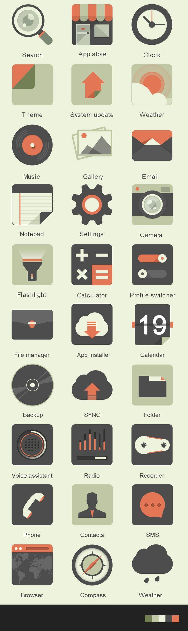 扁平化icon-图标-GUI by zo...