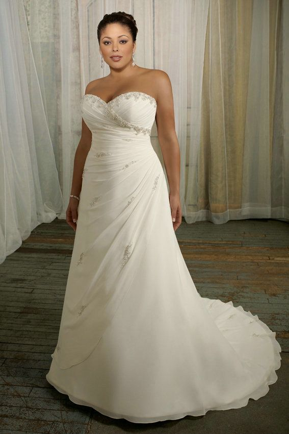 Sweetheart Organza Draping White Designer Empire Waist Wedding Gowns