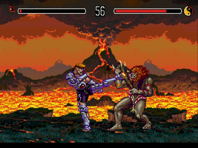 Sega's Eternal Champions is a 2D brawler with a colourful cast of characters from across time. There's Slash, a Neanderthal; Shadow, an assassin with an impractical outfit; Xavier, a badass alchemist; Blade, a futuristic bounty hunter; Midknight, a vampire; and Rax, a cyborg.