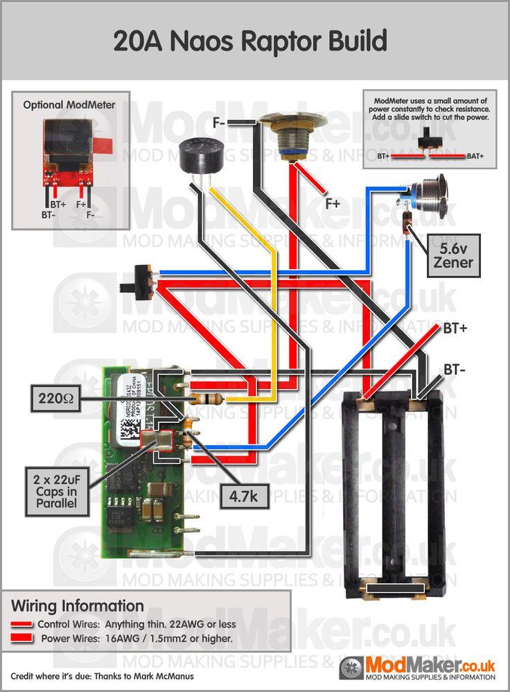 20A Naos Raptor Wiring Diagram | Vaporized | Vape, Vape