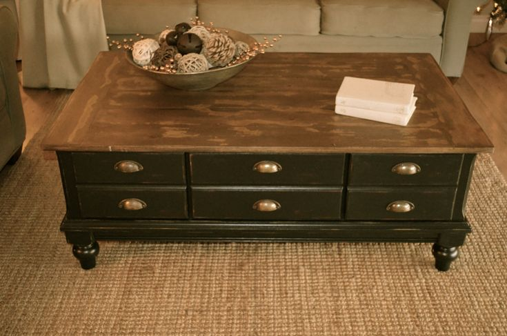 Distressed Antique Distressed Black Coffee Table By Analia Pastori Available At The Workshop