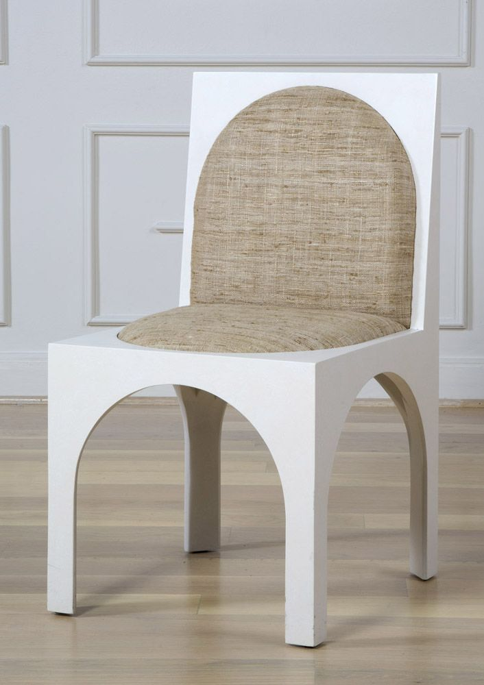 EJ VICTOR X KELLY WEARSTLER | ROXBURY CHAIR. A Distinctive Dining Or  Occasional Chair.